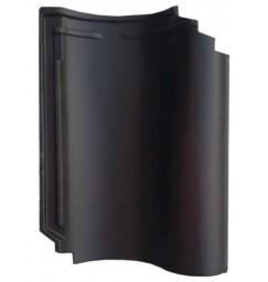 Dakpan Monier OVH 206 zwart glazura (aanbieding, licht genuanceerd)