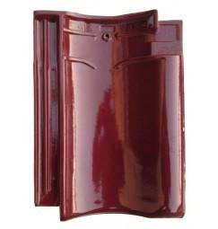 Dakpan Monier VH-V wijnrood (zeer licht genuanceerd)