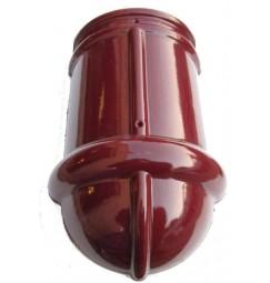 Hoekkeperbeginvorst Monier halfrond wijnrood