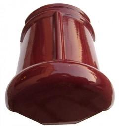 Topgevelbeginvorst Monier halfrond wijnrood