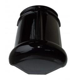Topgevelbeginvorst Monier halfrond zwart verglaasd