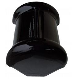 Topgeveleindvorst Monier halfrond zwart verglaasd