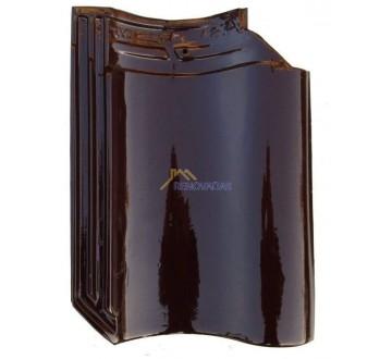 Dakpan Monier OVH 200 extra donkerbruin - aanbieding oneffen snijrand